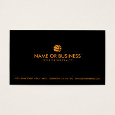 Simple Basketball Business Card at Zazzle