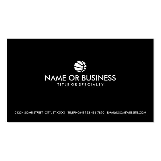 simple basketball business cards