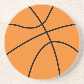 simple basketball vector design drink coaster