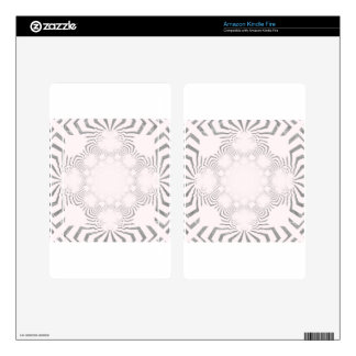 Simple Beautiful amazing soft white pattern design Skins For Kindle Fire