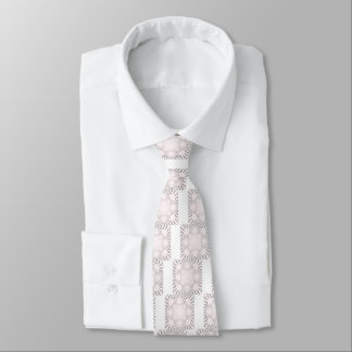 Simple Beautiful amazing soft white pattern design Tie