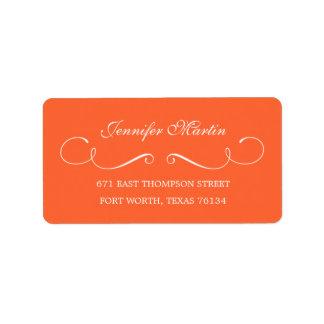 Simple Beauty Address Label (Orange)