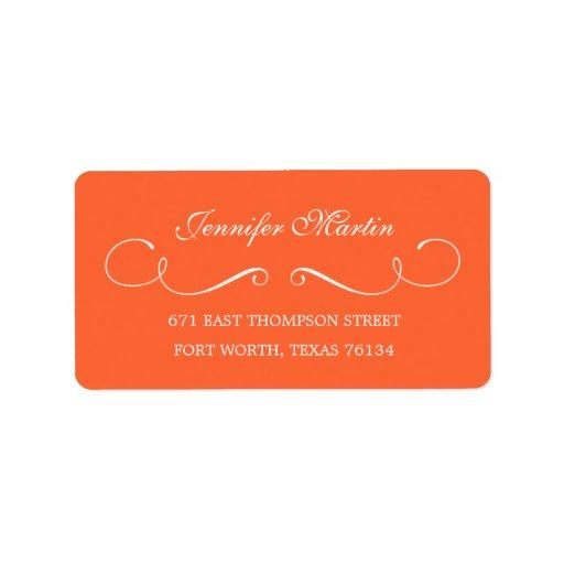 Simple Beauty Address Label (Orange) Personalized Address Label