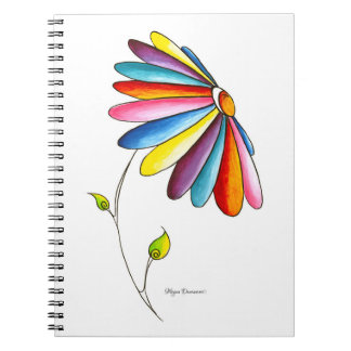 Simple Beauty Colorful Flower Notebook