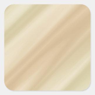 Simple beige pegatina cuadrada