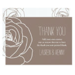 Simple Beige, Rose, Thank You Cards