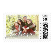 Simple Believe Photo Holiday Stamps