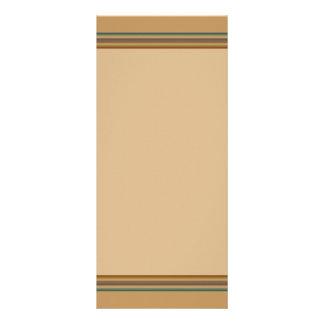 simple biege stripes rack card