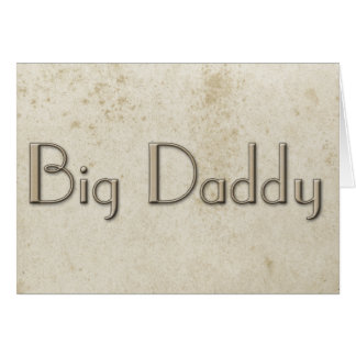 Simple Big Daddy Vintage Stained Paper Stationery Note Card