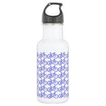 simple bike pattern stainless steel water bottle