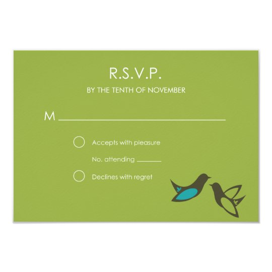 Simple Bird RSVP with Envelope Card