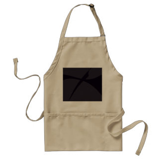 Simple Black Abstract Art Apron