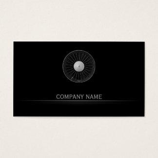 Simple Black Airplane Engine Company Business Card