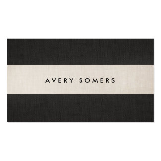 Simple Black and Beige Bold Stripe Stylish Double-Sided Standard Business Cards (Pack Of 100)