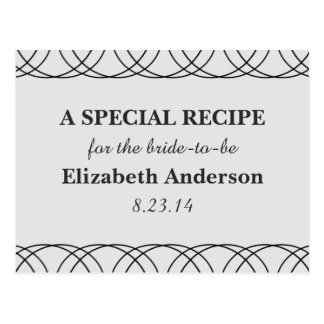 Simple Black and Gray Recipe Cards