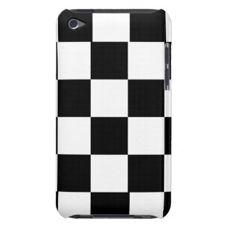 simple black and white checkered pattern barely there iPod cover