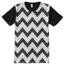 Simple Black and white Chevron pattern All-Over-Print T-Shirt