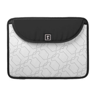 Simple Black and White Doggy Bones Pattern Sleeve For MacBooks