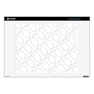 Simple Black and White Doggy Bones Pattern Laptop Skins