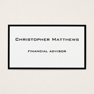 Simple Black and White Professional Business Card