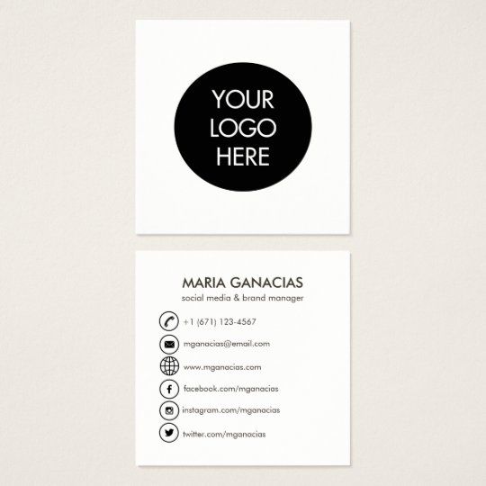Black and white business cards templates zazzle simple black and white social media business card reheart