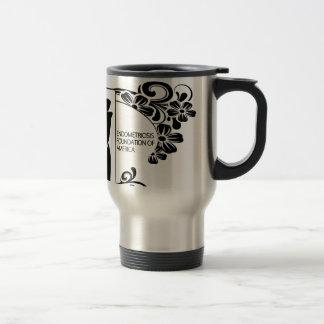 Simple Black and White Travel Mug