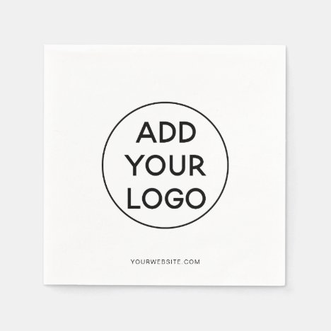 Simple black and white trendy promotional logo napkins