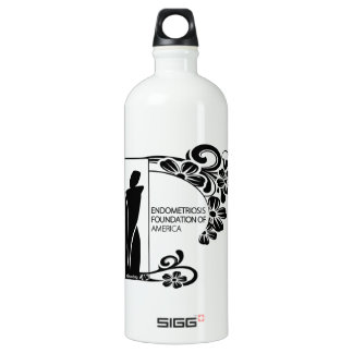 Simple Black and White Water Bottle