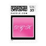 Simple black background with hot pink stamp
