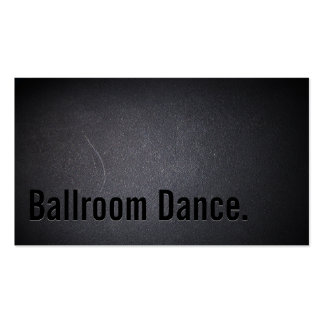 Simple Black Ballroom Dance Business Card
