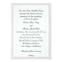 Simple Black Border Wedding Invitation
