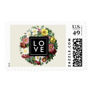 Simple Black Box | Vintage Flower LOVE Postage