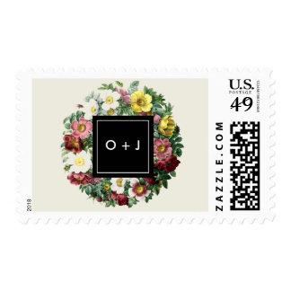Simple Black Box | Vintage Flower Monogram Postage