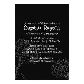 Simple Black Bridal Shower Invitations Announcement