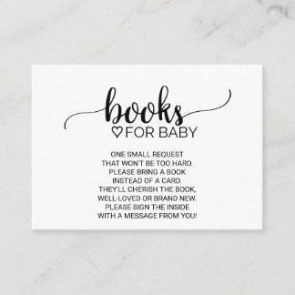 Simple Black Calligraphy Book Request Enclosure