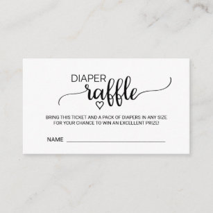 image relating to Free Printable Diaper Raffle Tickets Black and White named Diaper Raffle Tickets Presents upon Zazzle