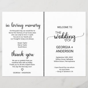 White Wedding Programs Zazzle