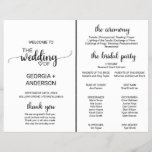 """Simple Black Calligraphy Wedding Program Fan<br><div class=""""desc"""">This simple black calligraphy wedding program fan is perfect for a rustic or modern wedding. The minimalist design features an elegant brush script font and a lovely feminine heart. Include the name of the bride and groom, the wedding date and location, thank you message, order of service, and bridal party....</div>"""