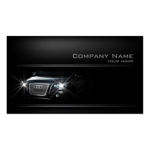 Simple Black Car In The Shadow Business Card