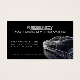 Simple Black Car Model Business Card
