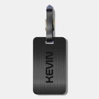 Simple Black Carbon Fiber Texture Bag Tag