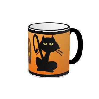 Simple Black Cat On Halloween Mug