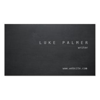Simple Black Cool Rustic Chalkboard Business Card