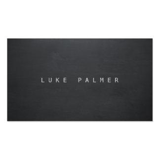 Simple Black Cool Rustic Chalkboard Writer Business Card