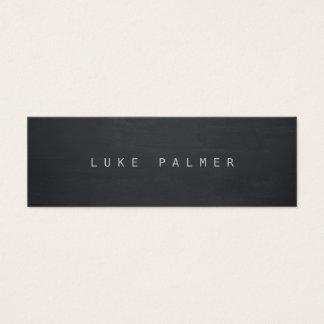 Simple Black Cool Rustic Chalkboard Writer Mini Business Card