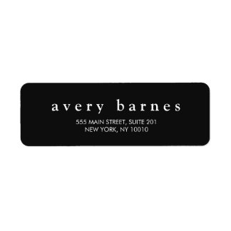 Simple Black Creative Professional Modern Label