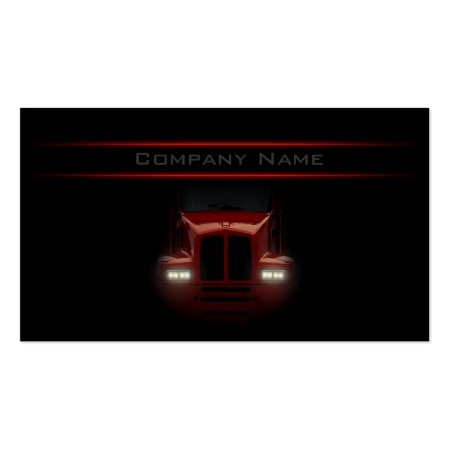 Black and Red Truck Business Card Template