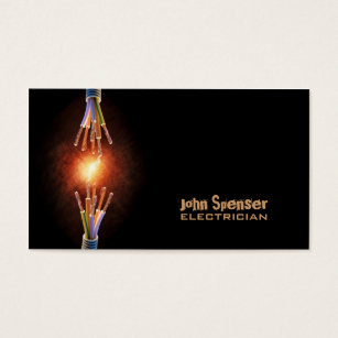Electrician business cards templates zazzle simple black electrician business card flashek Image collections