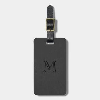 Simple Black Fox Leather Look Monogram