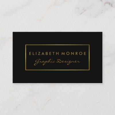 Gold Foil Effect Vintage Floral White Elegant Business Card